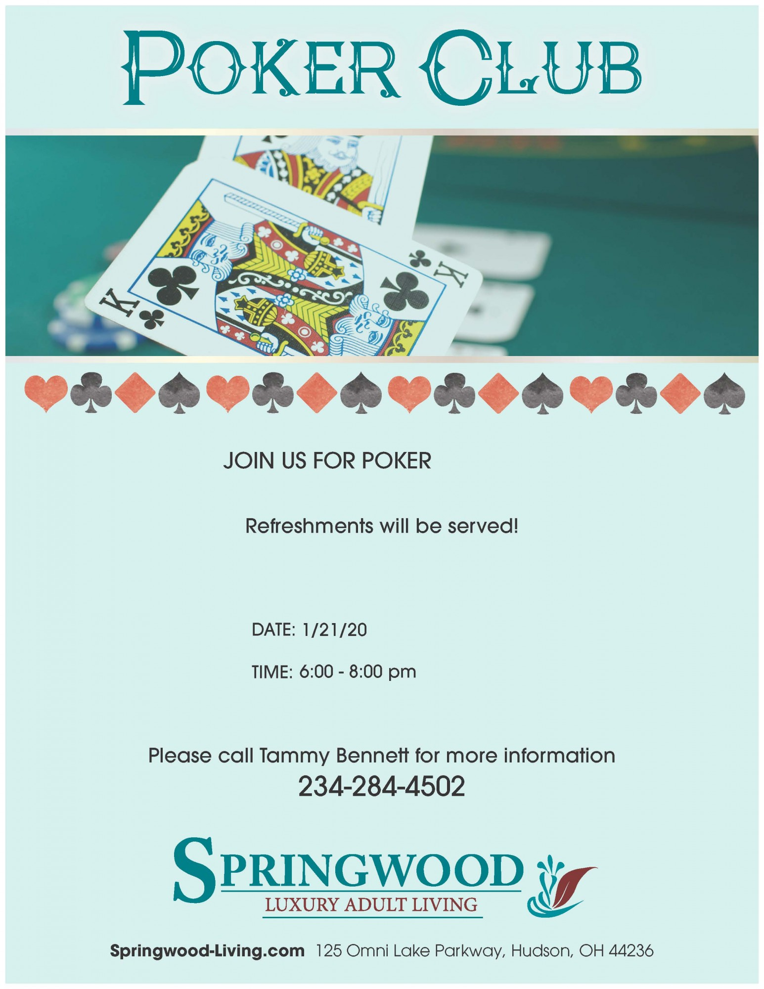 Join Us for Poker Club